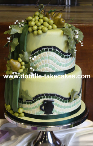 Grecian Themed Wedding Cake