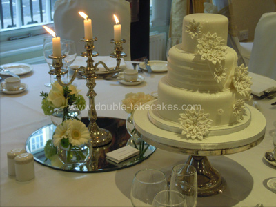 Fabric Effect Wedding Cake
